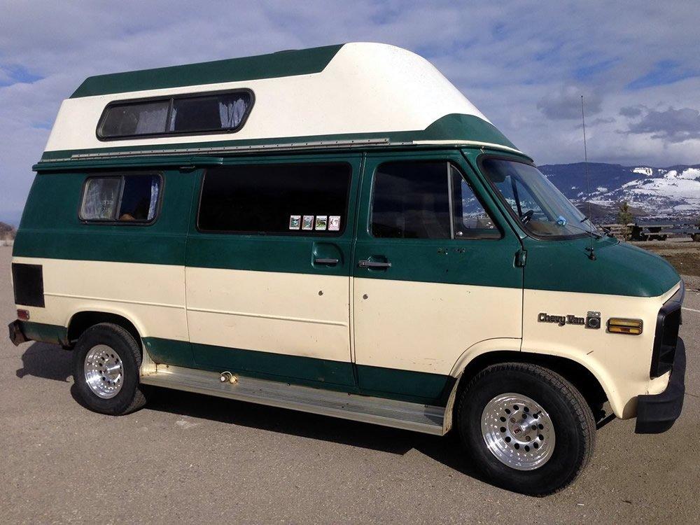 Green GMC Campervan